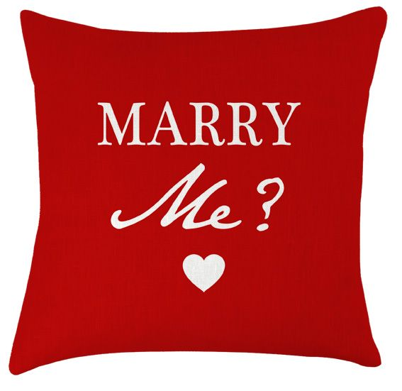 marry me? gorgeous romantic valentines gift cushion
