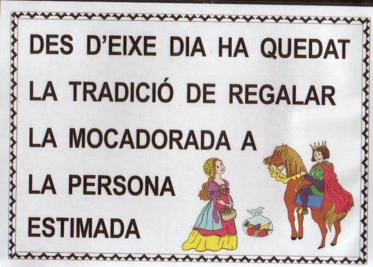 El 9 d'Octubre els valencians i valencianes també celebrem el dia dels enamorats, el dia de Sant dionís. Aquest dia els nois li regalen a...