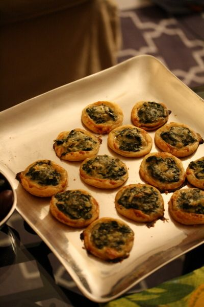 Open-Faced Spinach Pie Bites @Michael Atkins Girls, Small Kitchen