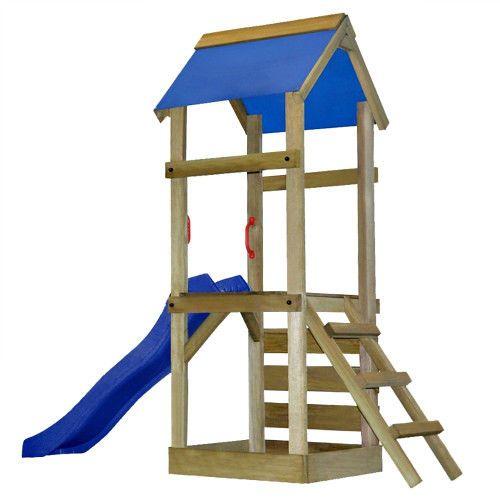 Children Wooden Playhouse Outdoor Slide Ladder Climbing Frame Sun Shed Canopy  #SmartDealsMarket