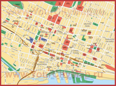 Карта города Монреаль