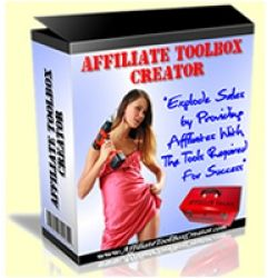 Affiliate Toolbox Creator  -  The software creates the pages you send your affiliates to to get their promotional tools. Tools like: Email broadcasts, Autoresponders, Articles, PPC ads, Banners, Signatures & PopUp Codes. All with AUTOMATIC Affiliate ID Insertion! With just a few clicks of the mouse, you can put together your own affiliate toolbox with promotion tools like this. The affiliate then only has to copy & paste those tools onto his site, or into his email broadcasts.