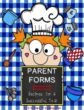 Back to School Parent Forms (Editable) Recipe for a succef