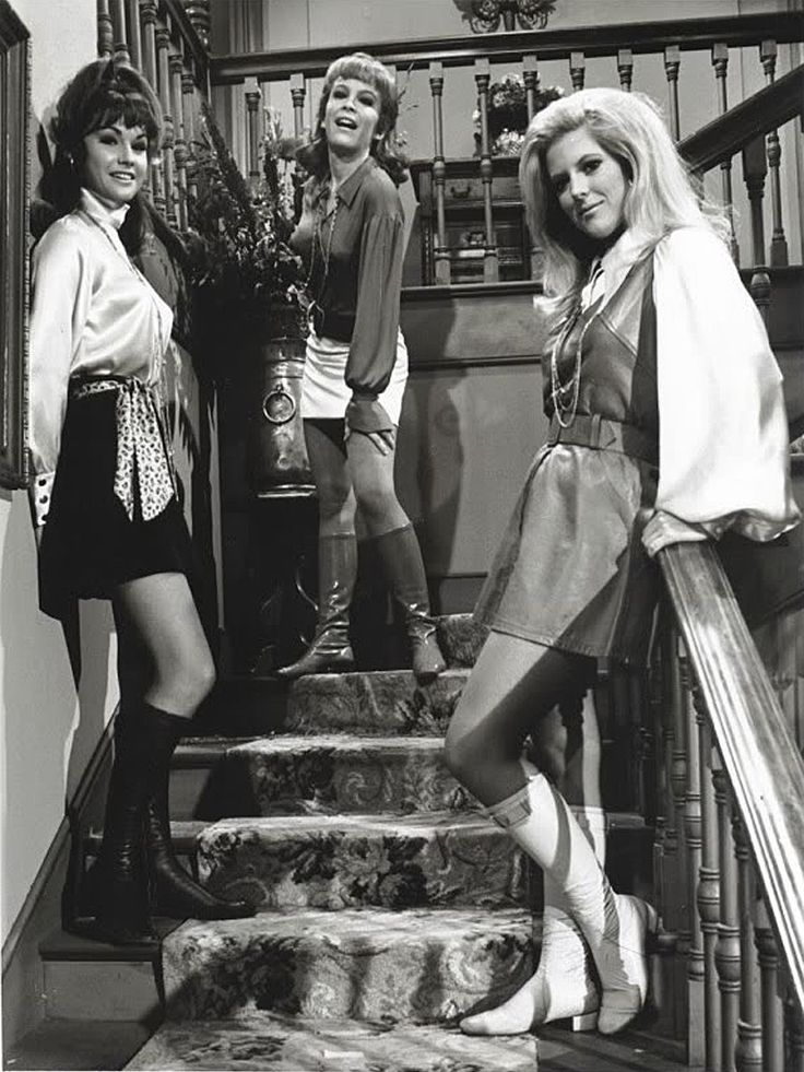 The Bradley Sisters from Petticoat Junction (l-r): Lori Saunders as 'Bobbie Jo,' Linda Kay as 'Betty Jo,' & Meredith MacRae as 'Billie Jo'