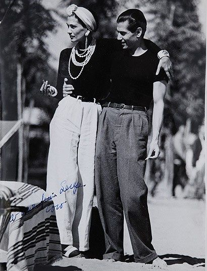 Gabrielle 'Coco' Chanel and Serge Lifar (The principal dancer of Diaghilev's…