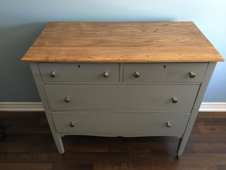 Beautiful dresser finished in Little Lamb by Fusion Mineral Paint ,new hardware and natural top varathaned for protection