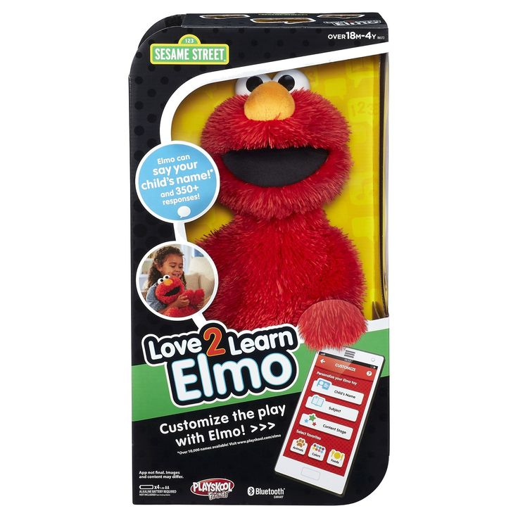 Love2Learn Elmo is a cuddly plush toy that knows your child's name!* Now toddlers and preschoolers can play personalized learning activities right along with their best friend, Elmo. Parents can use the Love2Learn Elmo app to deliver this customized play experience for their child. When parents select their child's name*, desired subject, level, and favorites in the app, the Elmo toy will talk and play based on those selections. Choose from the app's parent helpe...