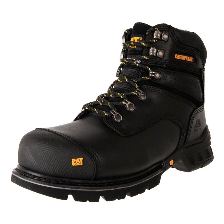 Buy Men's BLACK Caterpillar Brakeman Steel Toe zip up work safety Boots online.