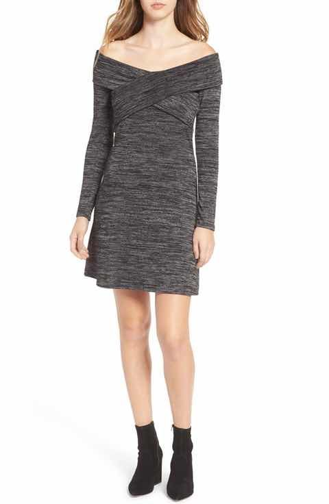 Shop Women's Leith Gray Black size L Dresses at a discounted price at  Poshmark. Description: Off the Shoulder Dress.