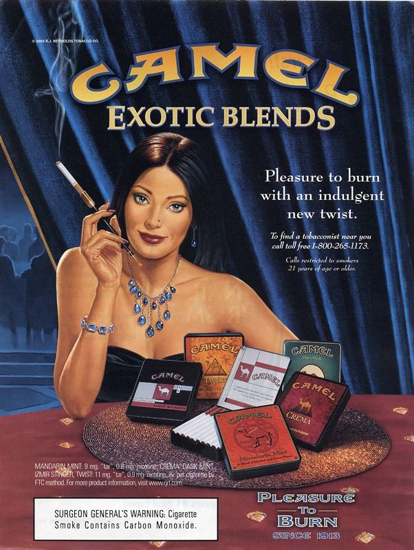 Camel, exotic blends