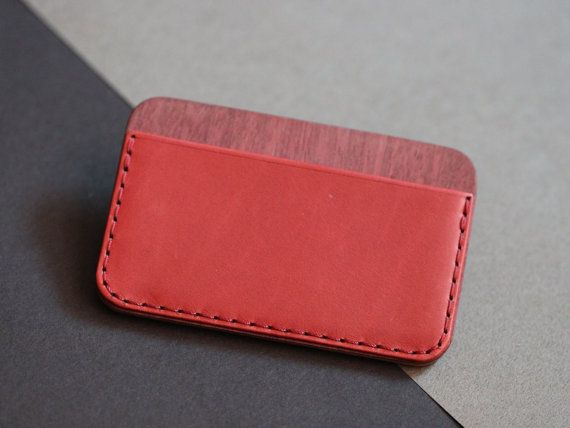 CLYH Line wallet made by Ingenious Bros.  - Dakota leather(La Perla Azzurra Company, Tuscany, Italy) - Bubinga and Cherry Hardwood Selected by I.B. - Characteristic Edge and surface sanding with 7 different sandpapers by I.B. - Handmade hard Black Box for gift, made by I.B.  - Hold Maximum 6~10 cards. - Size: 10.3cm x 6.5cm (little bit bigger than credit card)   *Please check Shipping & Refund Policies before you checkout. ※EMS Shipping requires your phone number, so please let us know. :)…