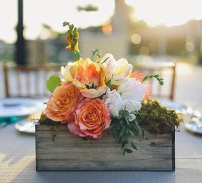 35 best steals deals images on pinterest silk flowers wedding fill these rustic wood containers with your floral arrangements afloral has high wedding table centerpiecesflower centerpieceswedding decorholiday junglespirit Gallery