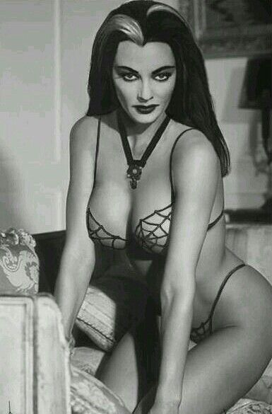 Yvonne de Carlo (or Lily, from The Munsters)Wish I looked as perfect as her.