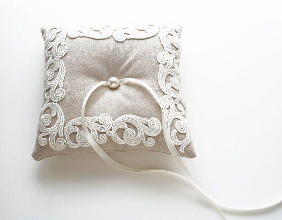 Lace Ring Pillow, Ring Bearer, Wedding Pillow, Waves