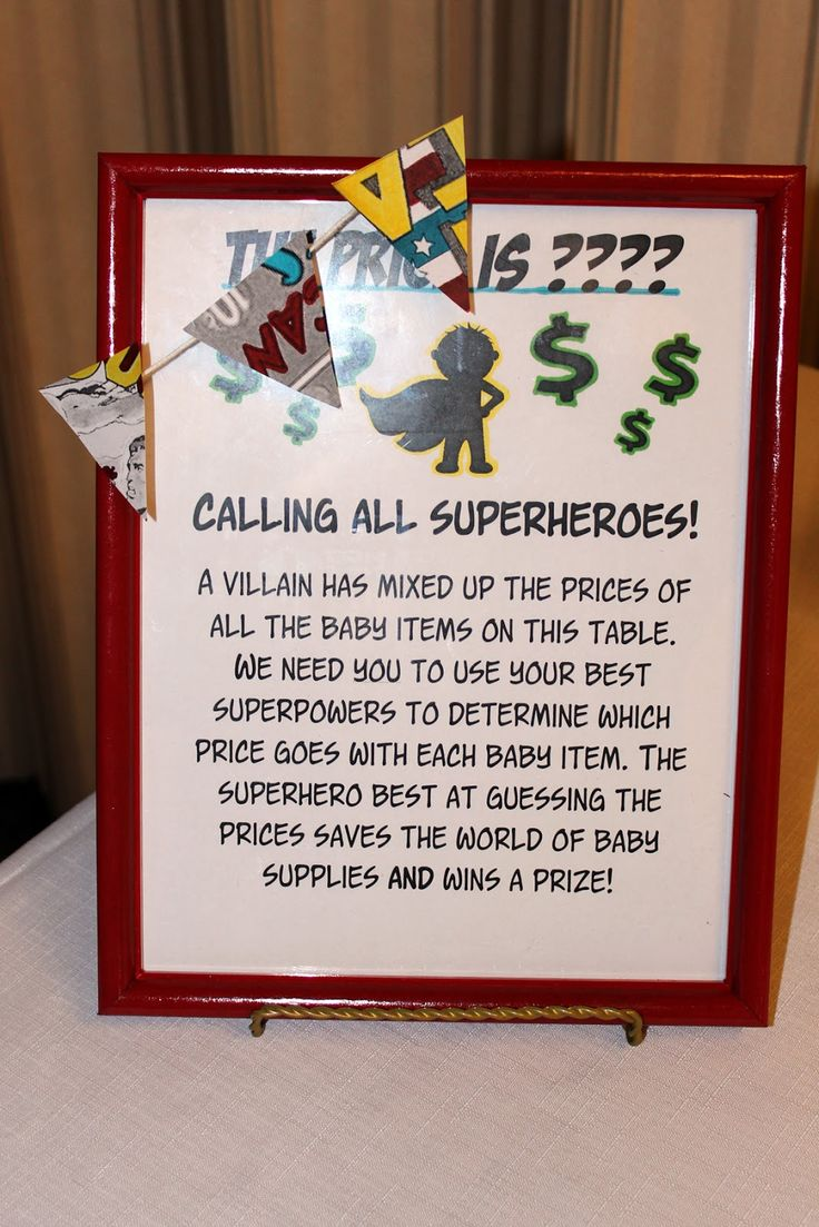 superhero baby shower games | ... games i m not one for cheesy embarrassing annoying baby shower games