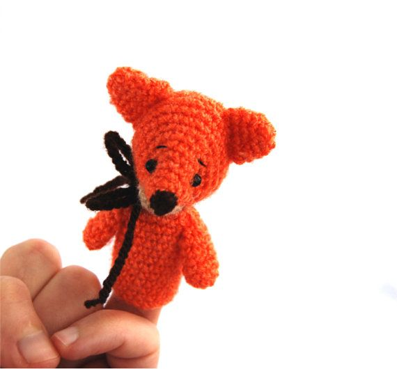 $21.58   crochet FOX finger puppet, #amigurumi #fox #puppet, #play #theater, #teaching #aids, #home #school #accesorry, #Waldorf #toy for #schoolers, #entertaining #gift