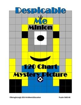 The Minion mystery picture aligns with Math Common Core Standards-Numbers to 120.  This is a basic activity for number recognition and matching skills.  Make sure to follow for upcoming characters!