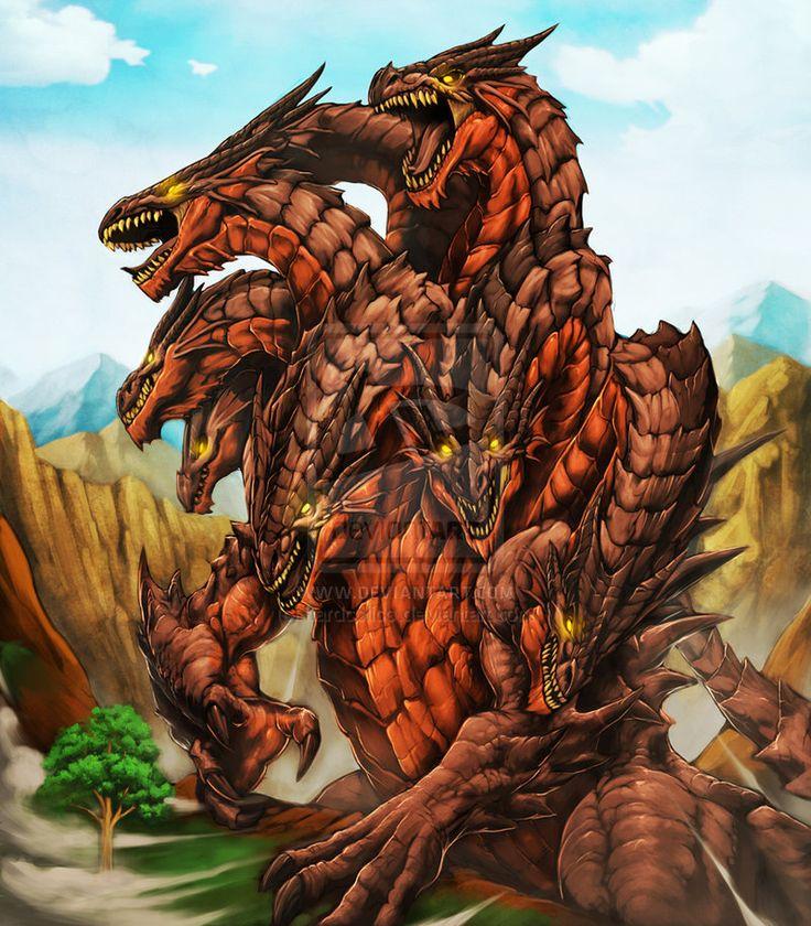 Dragon From Greek Mythology: Ladon Dragon For Fenix TCG By Chaos-Draco.deviantart.com