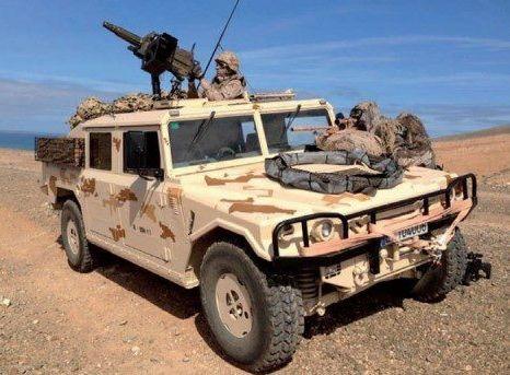Vamtac para operaciones en el desierto (Canarias)
