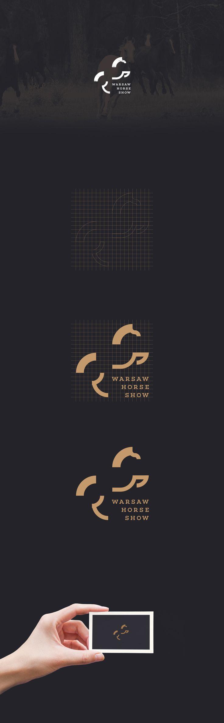 Simple logo and branding for Warsaw Horse Show. Igor Kubik logo design