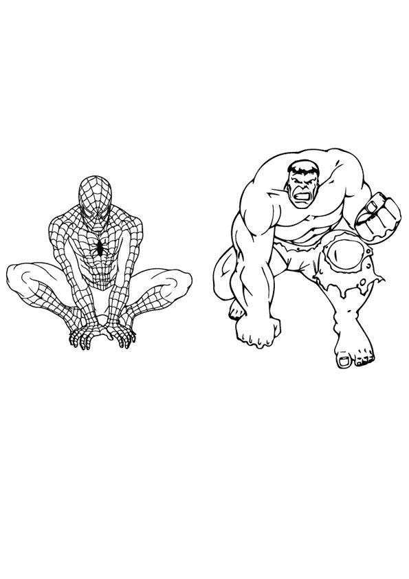 Spiderman Vs Hulk Coloring Page Spiderman Coloring Hulk Coloring Pages Coloring Pages