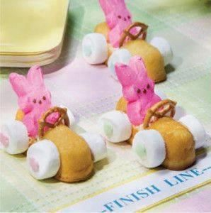 Easter Bunny Race Cars - Fun to Make!Holiday, Easter Parties, Cars, Easter Bunnies, Kids, Pretzels, Easter Bunny, Easter Treats, Easter Ideas
