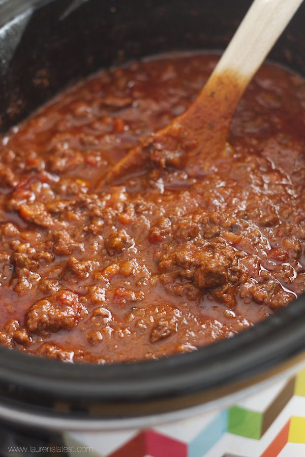 A slow cooked, flavorful, meaty bolognese sauce made in the crock-pot! This sauce is the perfect balance of salty, creamy, rich and delicious. It will be love at first bite.