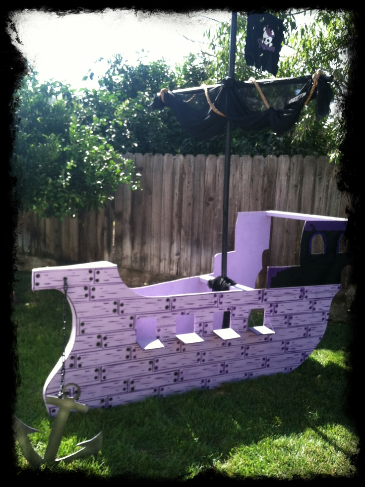 Pirate Boat For A Princess Party