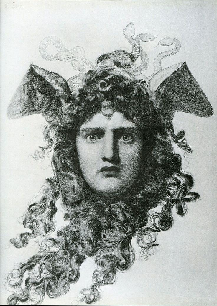 Anthony Frederick Augustus Sandys, Head of Medusa 1875