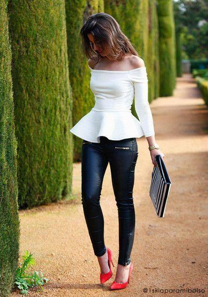 Outfits con blusa de hombros descubiertos, Â¡pura tendencia!