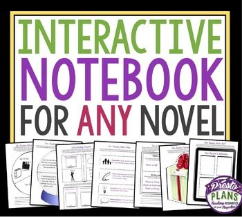best presto plans resources images back to  interactive notebook novel assignments if you are new to interactive notebooks this easy