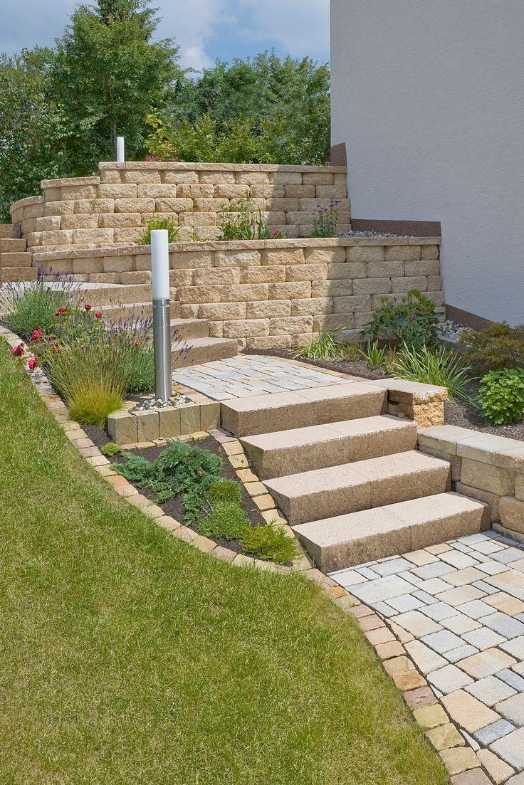 Angelegte Treppenanlagen Mit Mauern Und Hochbeeten Gleicht Stilsicher  Levelunterschiede Auf Dem Grundstück Aus Und Bietet Platz