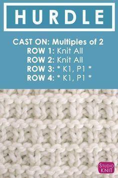 Como tricotar o ponto de obstáculo com o Studio Knit.