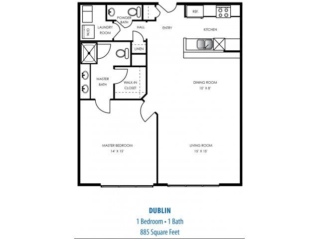 floorplan one bedroom apartment in indianapolis indiana