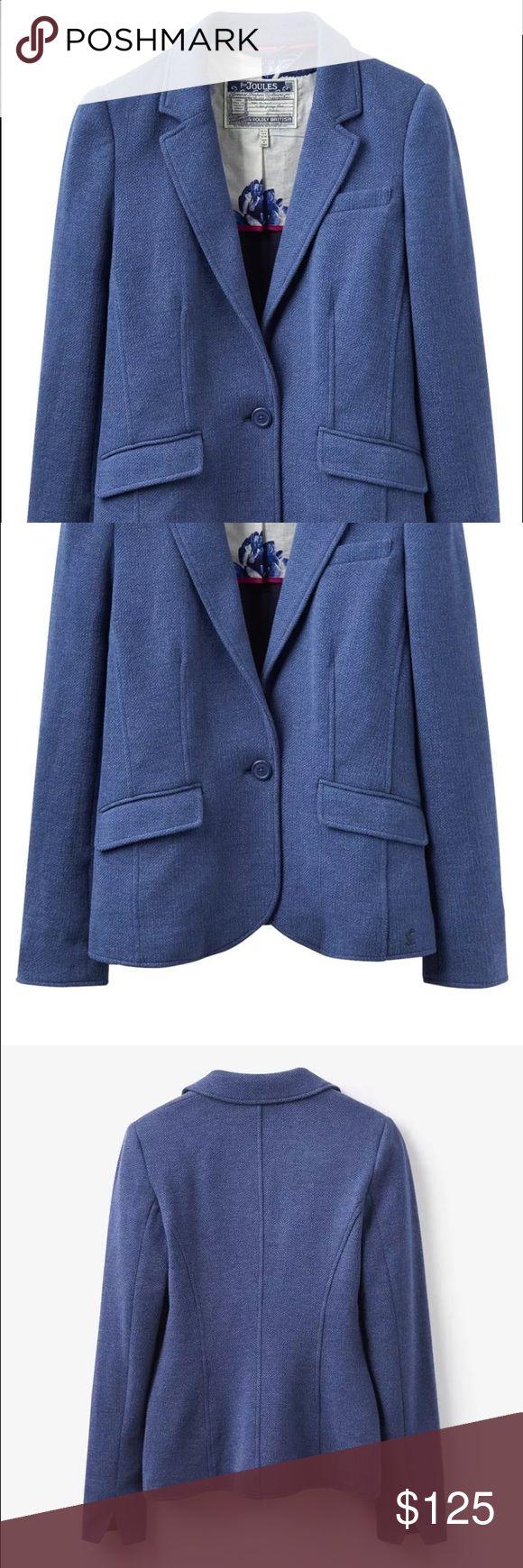 Selling this Joules Olivia Herringbone Blazer Chambray Size 4 on Poshmark! My username is: spenway. #shopmycloset #poshmark #fashion #shopping #style #forsale #Joules #Jackets & Blazers