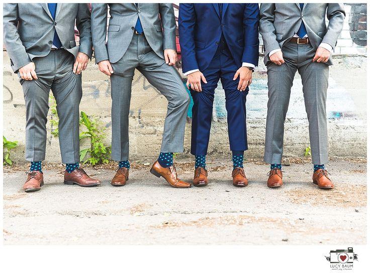 Matching groom and groomsman socks