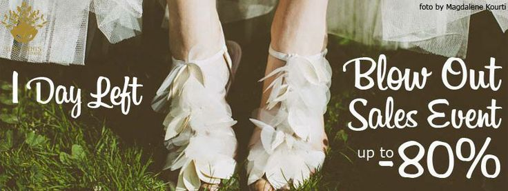 Blow Out Sales νυφικών με έκπτωση έως 80% ! Mόνο μία ημέρα έμεινε!  Η Elite Events Athens σε συνεργασία με το City Bridal και το weddingtales.gr οργανώνει το πιο σημαντικό event της χρονιάς για τις μελλοντικές νύφες! Κλείστε το ραντεβού σας σήμερα για να είσαστε και εσείς μία από τις τυχερές που θα δοκιμάσει, θα αγοράσει και θα φύγει αγκαλιά με το νυφικό των ονείρων της!  *Για ραντεβού καλέστε στο 6931492347, 10πμ-8μμ.  http://www.weddingtales.gr/index.php?id=1372