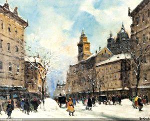 Winter Street Scene - (1) - (Antal Berkes)