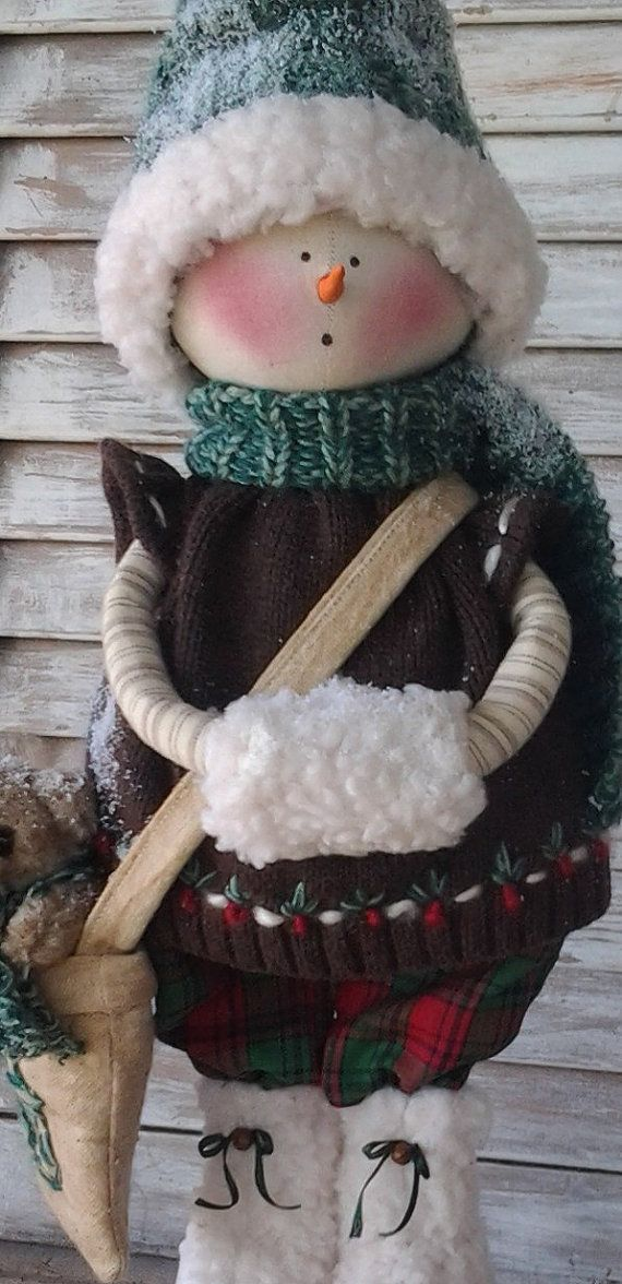Patrón primitivo primitiva Navidad nieve chica por CCCPrimitives