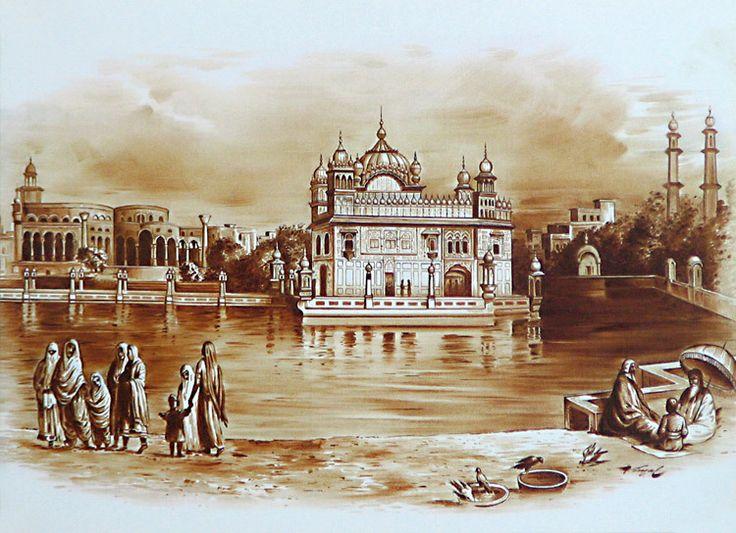 Waheguru Quotes Wallpaper Golden Temple In Amritsar During 1833 Golden Temple