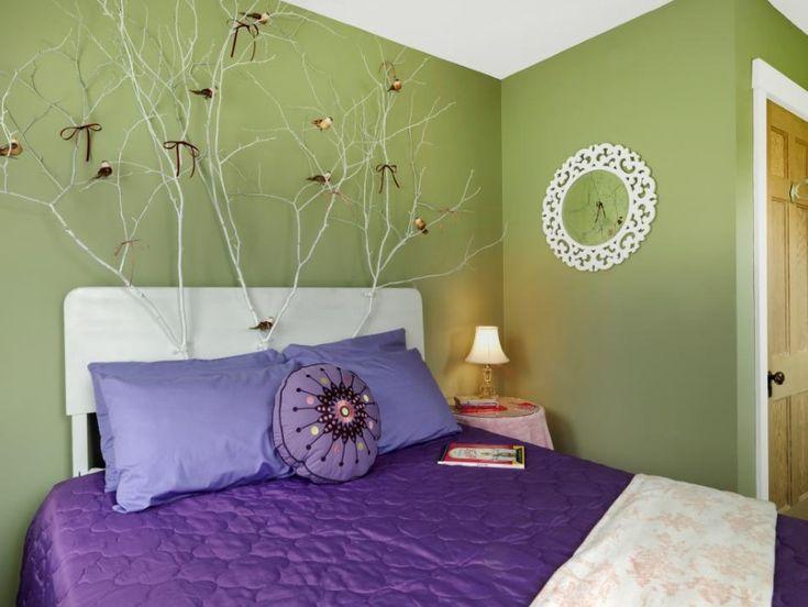 45+ DIY Headboard Ideas For Your Good Bedroom   DIY Enchanted Forest  Headboard Ideas