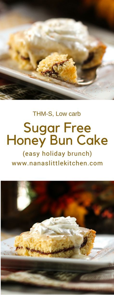 Sugar Free Honey Bun Cake is a great cinnamon delivery system! It's a wonderful little snack cake that really satisfies those honey bun cravings.