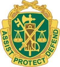 USAMPC-Regimental-Insignia. TheMilitary PoliceCorpsis the uniformedlaw enforcementbranch of theUnited States Army. Investigations are conducted by Military Police Investigators or theUnited States Army Criminal Investigation Command(USACIDC), both of which report to theProvost Marshal General.
