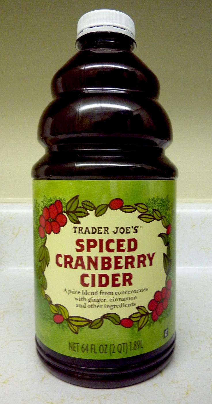 Trader Joe's Spiced Cranberry Cider Trader joes, Trader