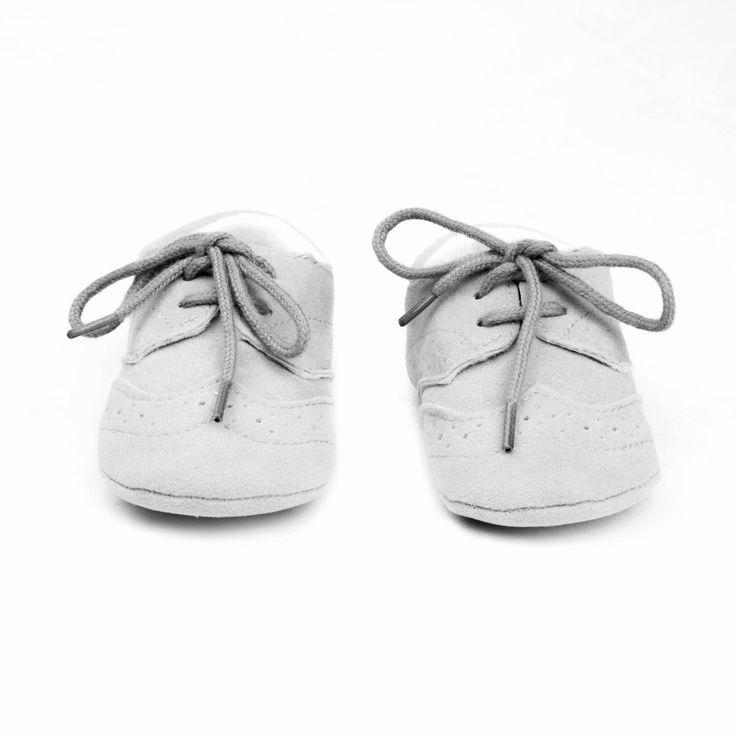 Zapatos bebes gris claro modelo Inglés (3)