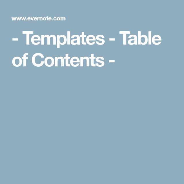 The  Best Table Of Contents Template Ideas On