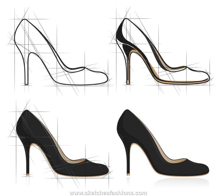 high heel shoe design