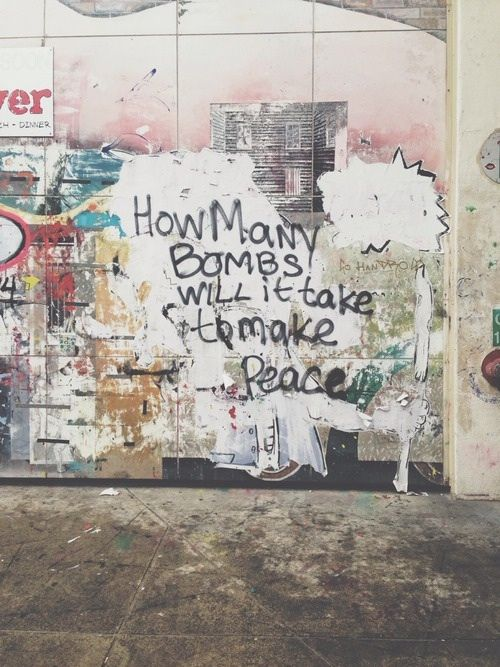 How many bombs will it take to make peace?