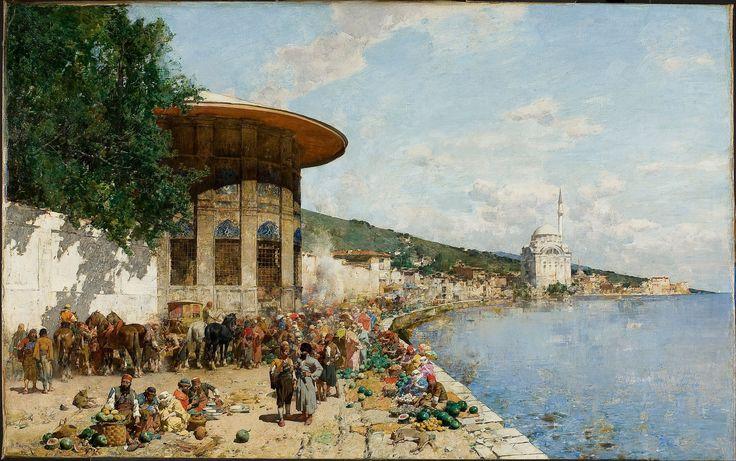 Alberto Pasini – İstanbul'da Pazar Yeri, 1877