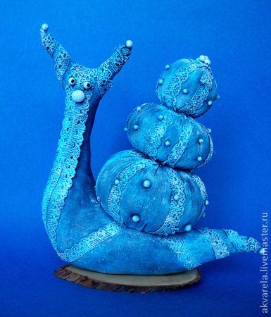 Коллекционные куклы ручной работы. Ярмарка Мастеров - ручная работа. Купить Мечтательница. Handmade. Голубой, грунтованный текстиль